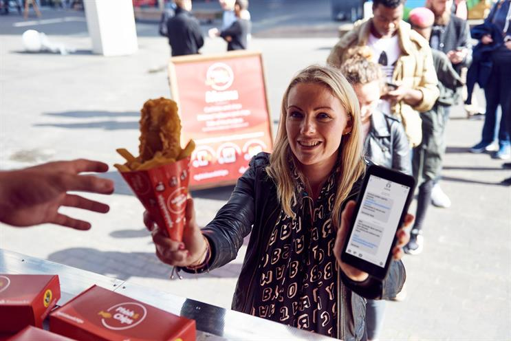 Santander hands out fish and chips to raise awareness of phishing scams