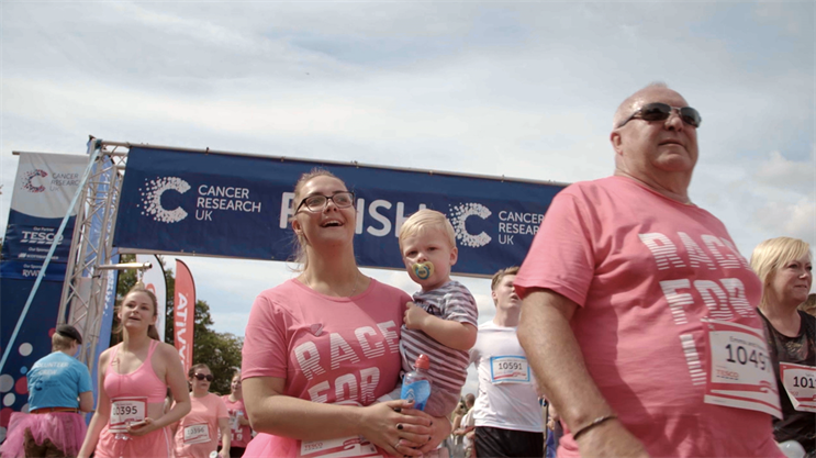 Cancer Research UK: calls to action include donating, volunteering and signing up to a fundraising event
