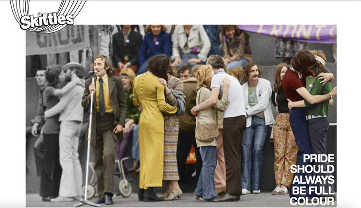 1971 image of a Gay Liberation Front protest is among vintage photos to feature in the campaign