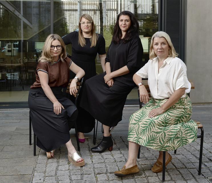 Left to right: Emma de la Fosse, Anna Jehan, Dani Bassil and Jane Austin