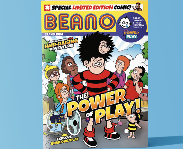 Power of Play: hub content includes an exclusive Beano comic