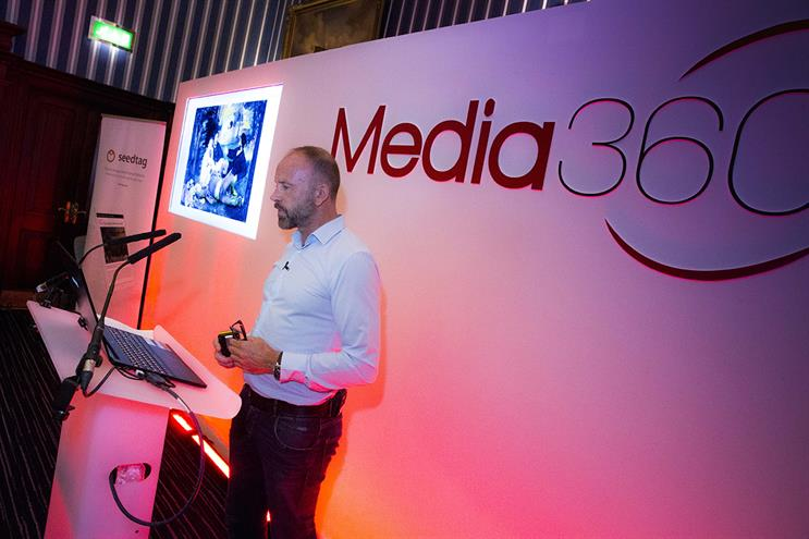 Jon Hewson, commercial director, Seedtag speaking at Media360