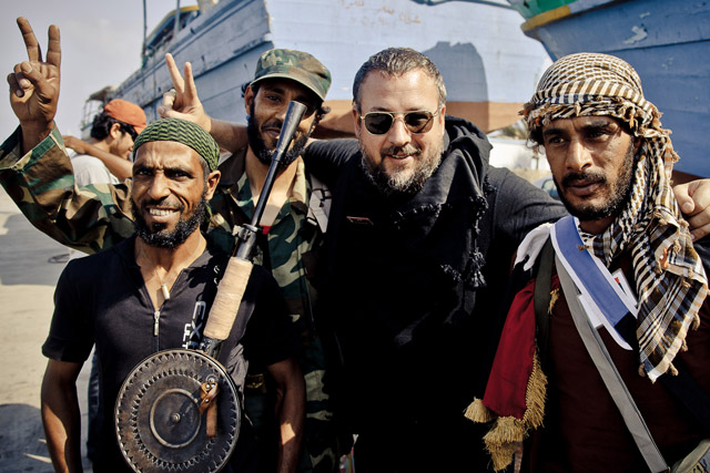 Shane Smith: Vice's founder in Libya (picture credit: Tim Freccia)