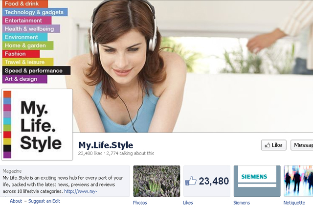 My Life Style: Siemens' Facebook page