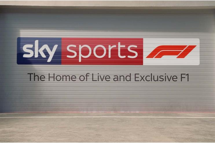 Sky hands creative control for Formula 1 to in-house creative agency