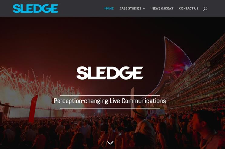 Sledge has repositioned itself as an agency that specialises in large-scale events