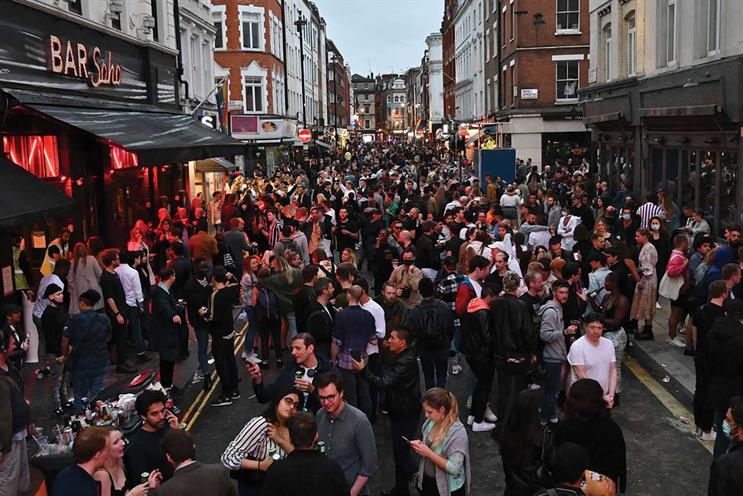 """Return to the office: follows the major easing of lockdown measures heralded by """"Super Saturday"""" in July when pubs and bars reopened, but large gatherings were still against Covid rules"""