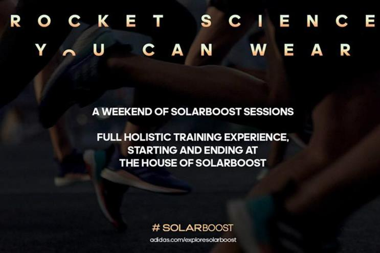 Adidas showcases trainers and technology with House of SolarBoost