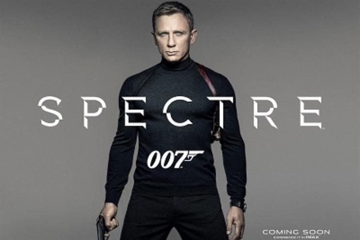 Spectre: the new Bond film promotional poster features Daniel Craig in an N Peal jumper