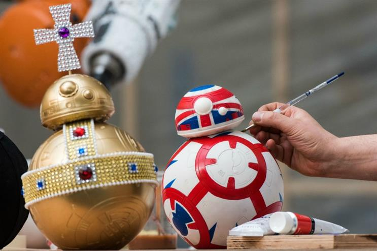 The Star Wars creations will feature in a charity exhibition in London from 19-21 April