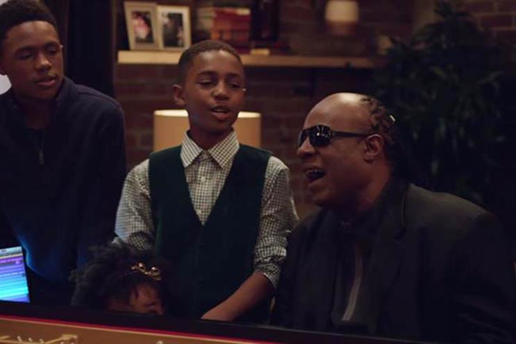 Stevie Wonder stars in Apple's Christmas ad