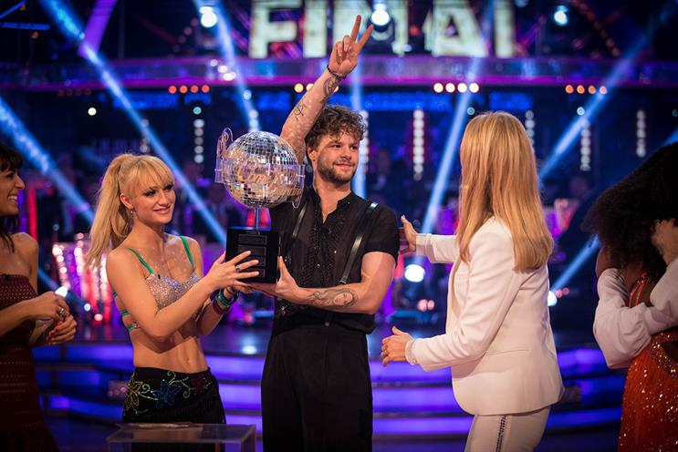 Jay McGuinness (centre): won Strictly Come Dancing on Saturday night