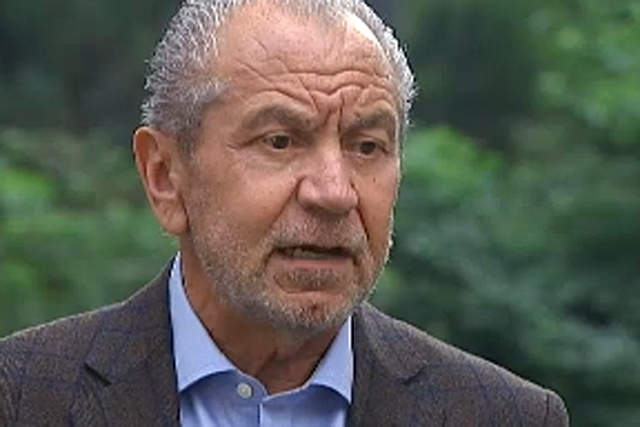 Lord Sugar: talks to Channel 4 News about the Daily Mail