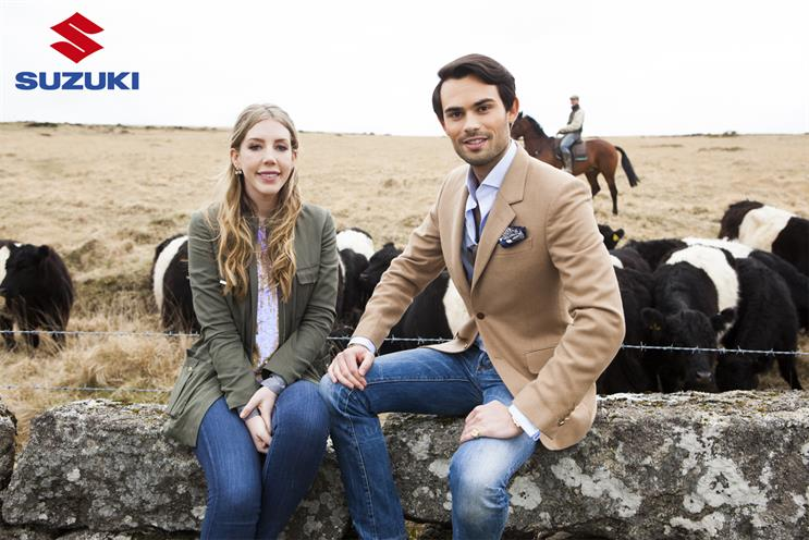 "Suzuki: Katherine Ryan and Mark Francis will star in ""adventure"" campaign"