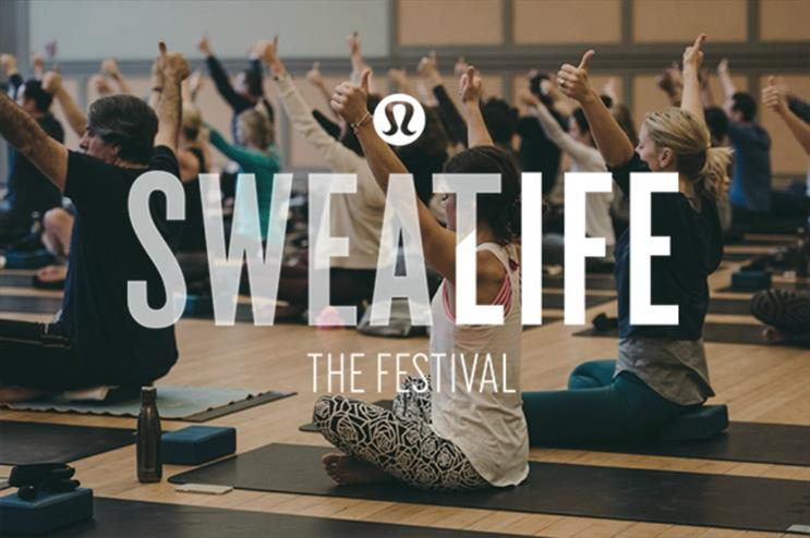 Lululemon: hosting sweat sessions and meditation classes