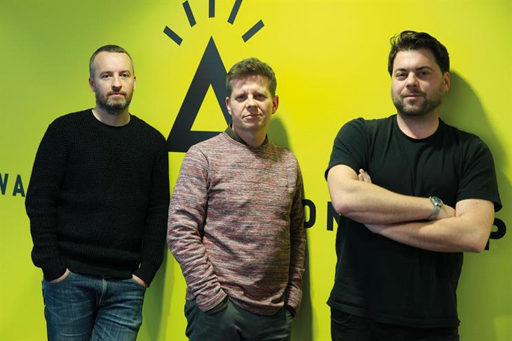 McGurk, Allsop and Lapham (l to r): joining TBWA\London