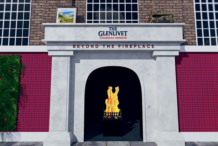 The Glenlivet: guests will enter through an oversized fireplace