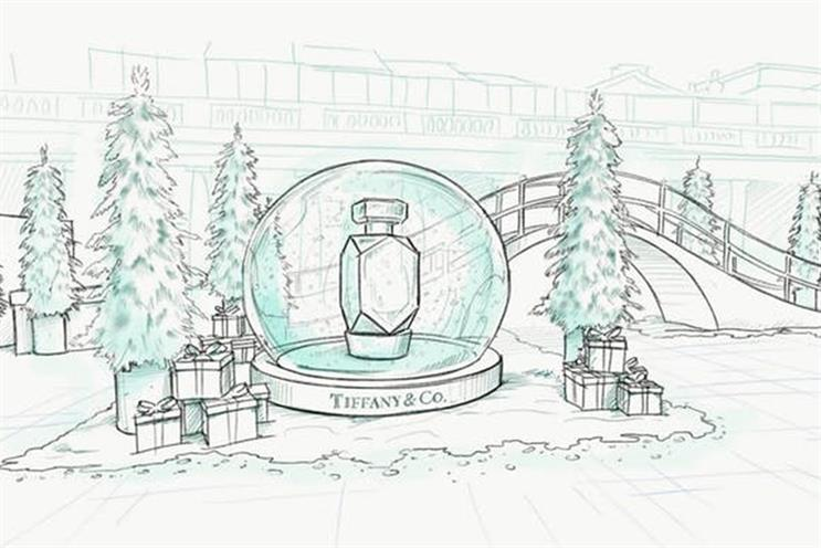 Tiffany: pop-up features Central Park inspired bridge
