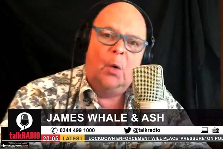 TalkRADIO: James Whale announced station's return to YouTube