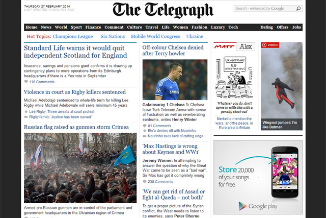 Is the Telegraph's digital revolution the right course?