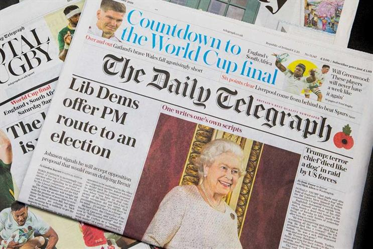 Telegraph Media Group: close to 100 roles thought to be at risk