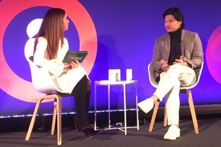Terence Kwok in conversation with Kathleen Saxton at Advertising Week Europe