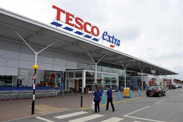 Tesco: has withdrawn an application to register the blue dashes under its logo