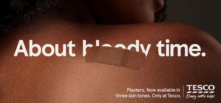 Tesco: fabric plasters are available in three skin tones