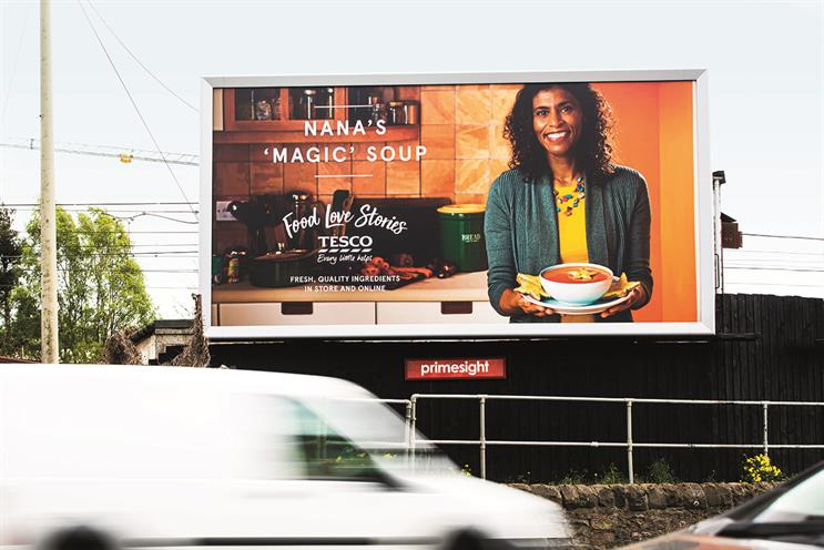 Above: Tesco uses the power of personalisation in its latest brand-building OOH campaign