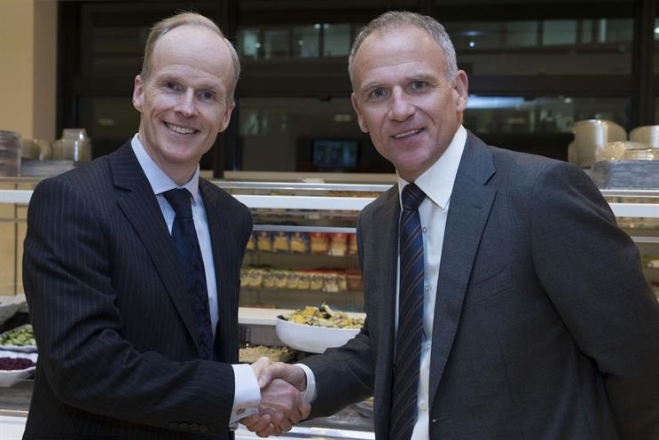 Merger: Booker CEO Charles Wilson and Tesco CEO Dave Lewis