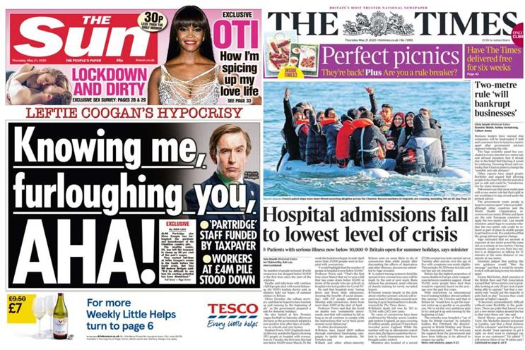 News UK: flagship titles The Sun and The Times