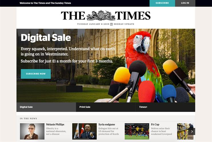 Subscriptions pay off for The Times as profits rise