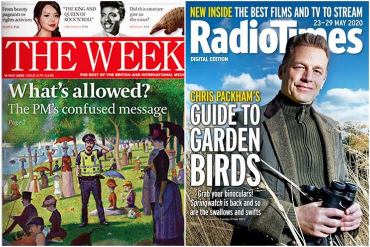 The Week and Radio Times: owned by Dennis and Immediate respectively