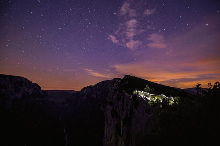 The North Face will host an all-night festival at The Gorges du Verdon in September