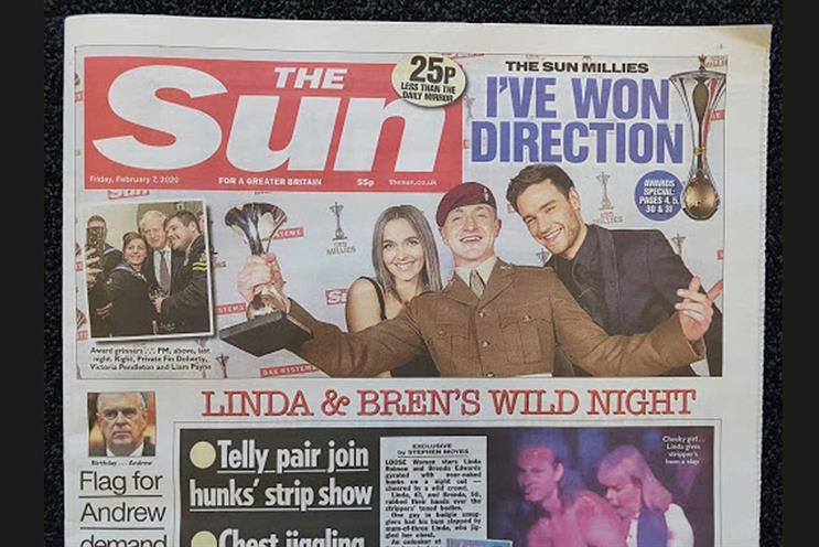 The Sun: full-year revenue increased slightly