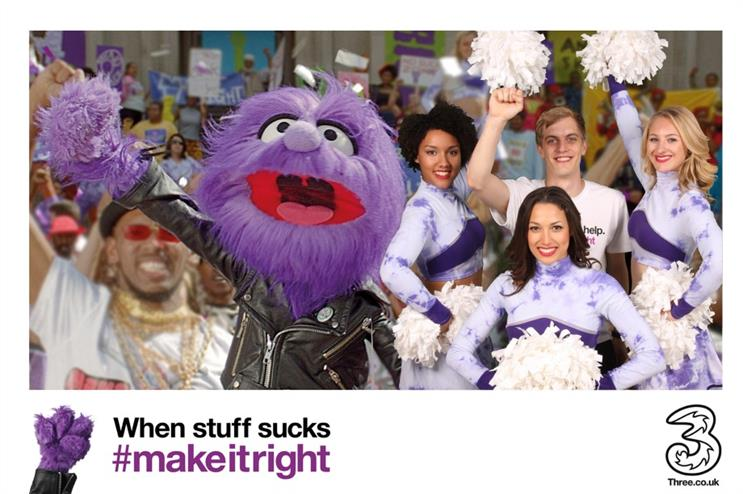 Three kicks off #MakeItRight campaign with experiential staff activity featuring 'Jackson'