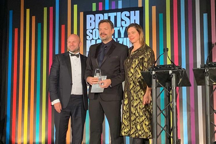 BSME Awards: Scott (centre)