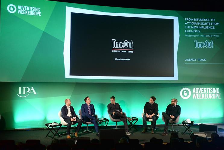 Time Out revealed a new study into the influence economy during a panel at Advertising Week Europe
