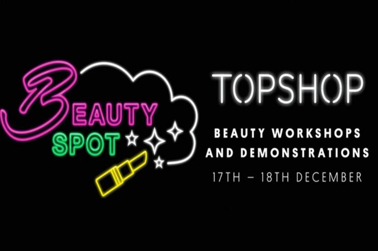 Topshop: hosting Christmas beauty workshops