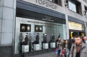 Shoppers invited to Topshop's virtual catwalk experience