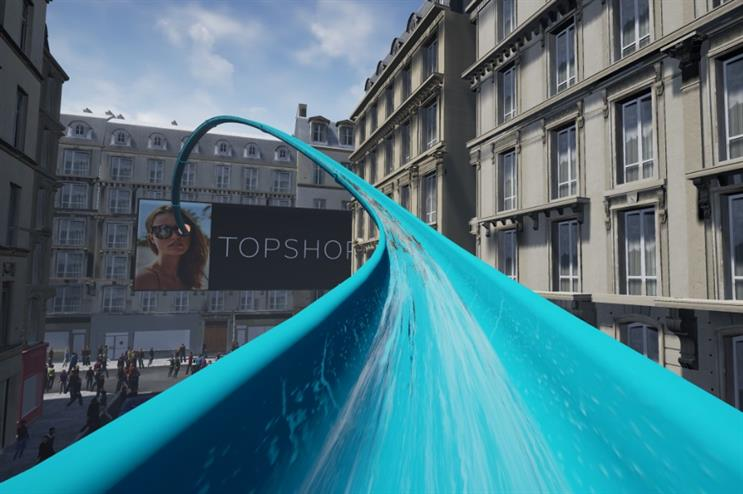 Topshop launches VR waterslide