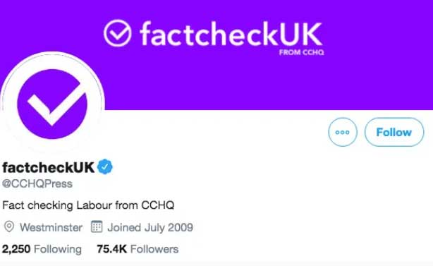 Twitter: how Conservative press office presented itself during election debate