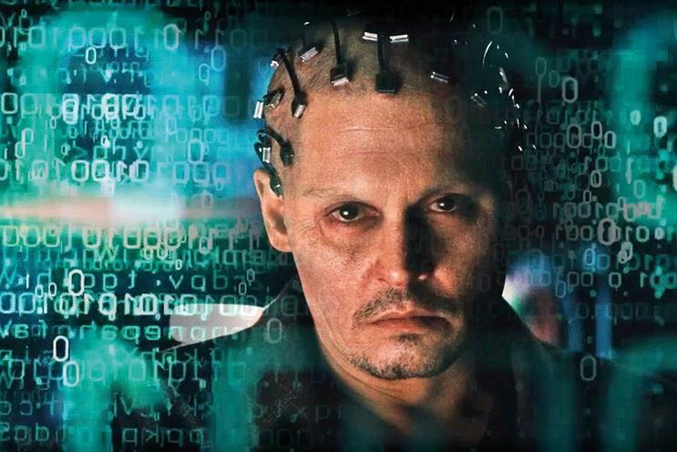 AI features in films such as Transcendence (above) and is now being used in advertising
