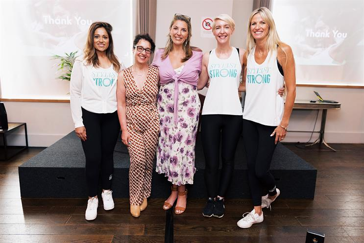 L-r: Stylist Strong's Neha Patel; MediaCom's Sue Unerman and Claudine Collins, and The Stylist Group's Georgia Holt and Sophie Robinson*