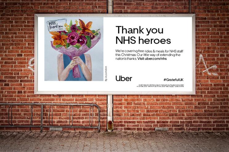 Uber: pays tribute to NHS workers who have had a tough year during the pandemic