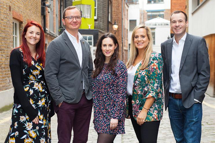 Undercurrent's experience-builders (L-R): Sophie Farnham; Damian Clarke; Hilary Bradley; Emily McCorquodale; Neville Close