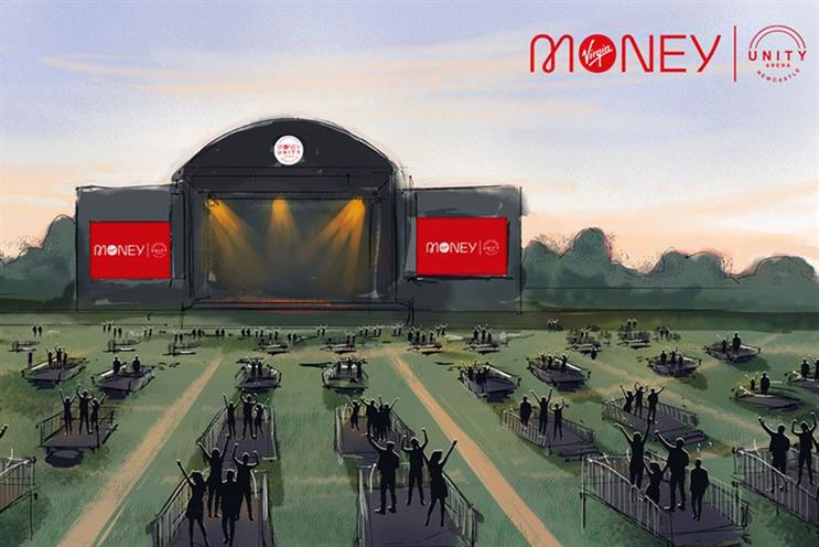 Virgin Money: open-air arena will have capacity for 2,500 people