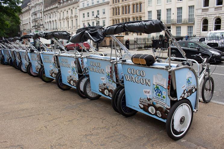 Vita Coco: rickshaw rides by Waterloo station