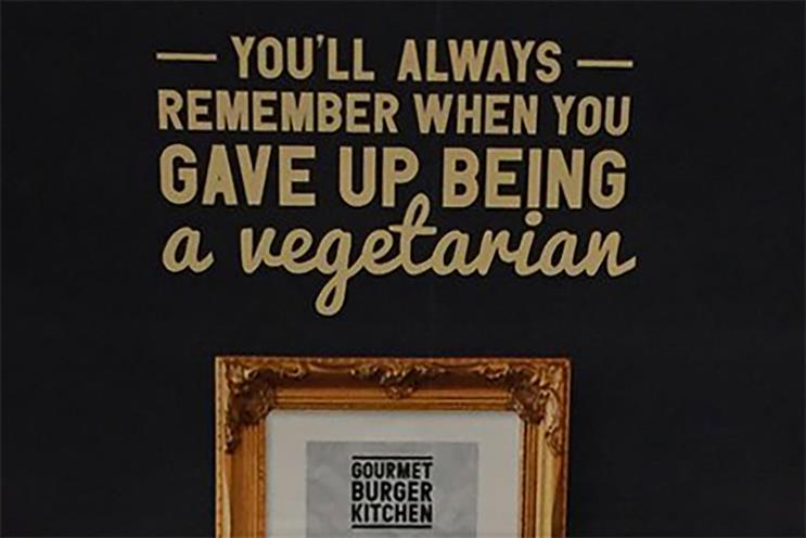 Gourmet Burger Kitchen: apologised for poster ads on the London Underground