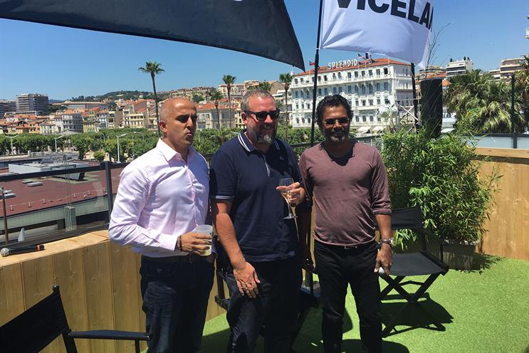 The Vice/Times of India team in Cannes